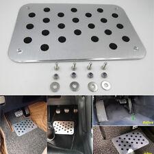 Universal Car Aluminum Floor Carpet Mats Scuff Guard Pedal Foot Rest Pad 4mm 1x