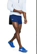 Under Armour Running Split Shorts CoolSwitch Blue/Black 1313903-574 Men's Size L