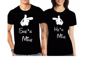 He's mine She's mine T Shirt Couple matching valentines anniversary day Best Top