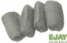 4 x 20gram Assorted Wire Wool - Grades : Extra Fine, Fine, Medium and Coarse