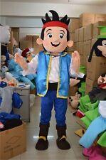 Hot Cool Jake Mascot Costume Neverland Narrowly Pirate Carnival Dress Free Ship