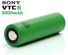 New Sony VTC6 18650 3000mAh 3.7V (30A) High Drain Flat Top Rechargeable Battery