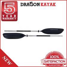 Dragon Kayak 2pcs Sturdy Plastic Paddle Ultra Light Sports Design - Black