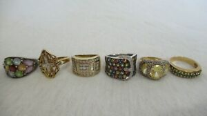 LOT OF 6 STERLING SILVER RINGS