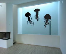 Vinyl Wall Decal Sticker Bedroom jellyfish deep sea fish Octopus Bathroom r1656