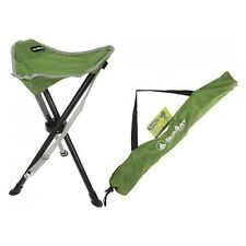 Summit Tripod Stool Green - Camping Fishing Folding Tripod Seat + Carry Bag