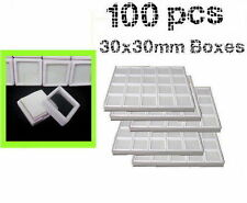 100 boxes for display of gemstones and diamonds Acrylic Free Shiping F12