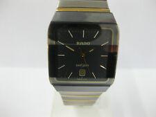 Gents Rado DiaStar Steel & Yellow Bracelet Watch Grey Dial 129.0266.3 #1165