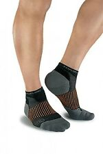 3 Pair Tommie Copper Men's Athletic Ankle Compression Socks Large