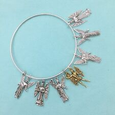7 ARCHANGELS Expendable Charms Bangle, Angelic Protection Bangle Bracelet.