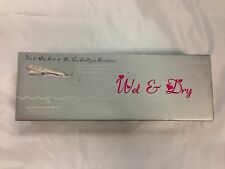 ISO Wet & Dry Series Hair Straightening Flat Iron - Silver  - NEW IN OPEN BOX