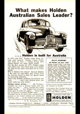 "1953 FX 48-215 HOLDEN SEDAN AD A1 CANVAS PRINT POSTER 33.1""x23.4"""