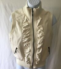 Ruby Rose brand women's vest Size L Cream Color Zip-up Sleeveless Style# 90054