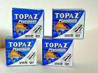 TOPAZ Super PLATINUM double Edge Safety RAZOR Blades best QUALITY-Saloon supply