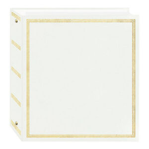Pioneer TR-100 Magnetic 3-Ring Photo Album White (Same Shipping Any Qty)
