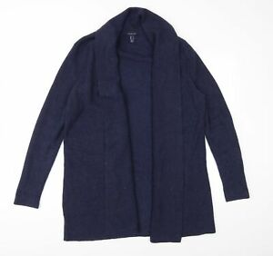 Lands' End Womens Blue  Knit Cardigan Jumper Size L