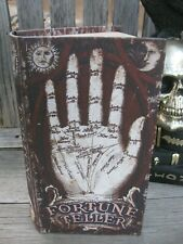 FORTUNE TELLER FAUX HALLOWEEN BOOK Hand DISTRESSED Secret STASH BOX