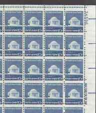 US. 1510. 10c. Jefferson Memorial. Sheet of 100. Horizontal  MisPerf. Error 1973