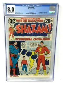 DC COMICS SHAZAM 1 CGC 8.0 1ST APP CAPTIAN MARVEL & MARY MARVEL SINCE GOLDEN AGE