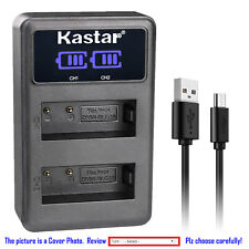 Kastar Battery LCD Dual Charger for DMW-BLG10 DMW-BLG10E Panasonic Lumix DMC-GX7