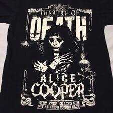 Alice Cooper Men/'s Small T-Shirt Sick Fans VIP 2015 Licensed Concert Tour Merch
