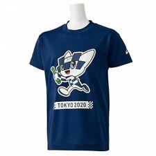 Tokyo 2020 Olympic Game Miraitowa Kids T-Shirt Asics Navy Blue Official Goods