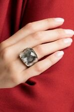 Swarovski Nirvana Black Diamond Crystal Ring 55 - Collectors item - Rare