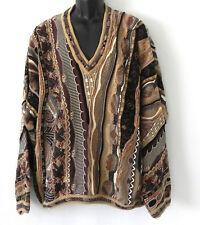 Tundra Canada Sweater V-Neck 100% Cotton 3D Multi-Color Size 1X