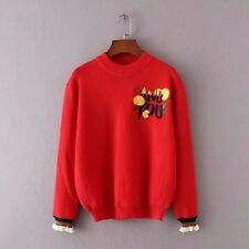 NEW Women Lady Red Knitwear Knit knitted Pullover Tops Jumper