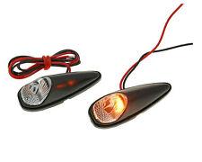 Vespa ET4 125 150 Custom LED Mini Indicator Light Set - Black from 2000