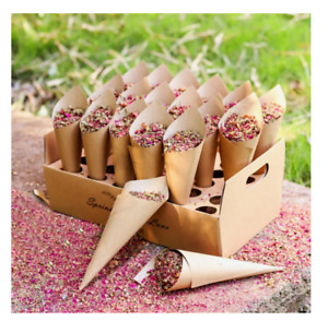DIY Wedding Confetti Cones Flower Girls Flower Petal Holder Wedding Decorations