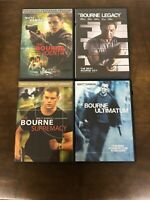 The Bourne Trilogy + Bourne Legacy Movies DVD Lot - Identity, Supremacy, Ultimat