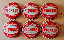 6 Pioneer Strawberry Creme Soda Cork Lined Bottle Caps Unused Unpressed