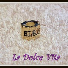925 Silver plated Charm Bead - Bible Book