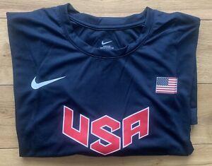 Nike Pro Elite Men's USA Olympic Warm Up Training T-Shirt Top New 4XL
