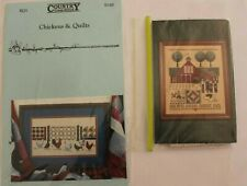 Country Themed Cross Stitch Charts x 2