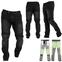 Mens Motorbike Jeans Motorcycle Denim Trousers with CE Armour Protective Pads