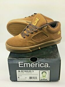 Emerica Reynolds 3 Khaki Collab Special Edition Skateboard Shoe SIZE 6 / 38