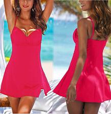 Multiway Badeanzug Badeanzugkleid Badekleid GR. 50 Cup C; 100C pink Neu 972597