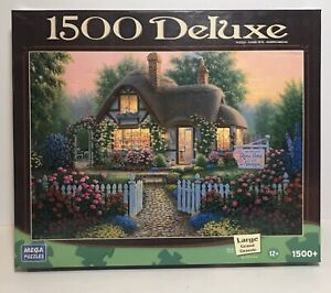 """Deluxe Jigsaw Puzzle """"Rose Petal Gift Shoppe"""" 1500 Pieces Mega Brand ~ NEW"""