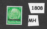 1940 Stamp / MH PF05 / Luxembourg Overprint Hindenburg  / German Occupation WWII