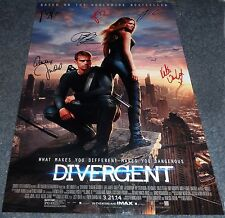 """DIVERGENT CAST X6 PP SIGNED 12""""X8"""" A4 PHOTO POSTER SHAILENE WOODLEY THEO JAMES"""