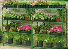 Gardman Mini Garden Greenhouse Staging Shelving Double 4 Tier Steel Stand 08751