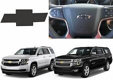 Flat Black Steering Wheel Vinyl Bowtie For 2015-2018 Tahoe Suburban New USA