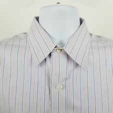 Brooks Brothers 1818 Non Iron Mens Blue Pink Striped L/S Button Shirt Sz 15.5-32