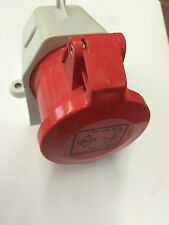 Lewden PM16 FEMMINA SURFACE MOUNTING Socket CEE17 3P 16A 415V ROSSO