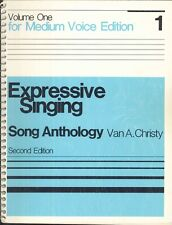 Expressive Singing Song Anthology Vol I Medium Voice Christy 1983 2nd Edition
