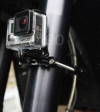 Montage moto pour gopro hd hero 2 3 4 roll bar vélo ski surf