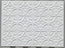 PLB-10 embossed 3D wall kitchen toilet shop restaurant white panels 10tile/lot