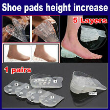 "Max Height 2"" Tall Insoles Gel Shoe Heel Foot Support Lifts Inserts 5 Layers"